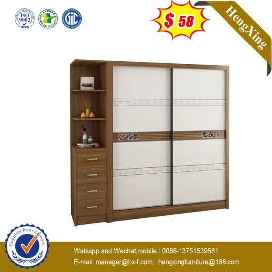 Simple Style Double Color Livingroom Bedroom Furniture Mfc Wooden Wardrobe Ul 9n0770 Pictures Photos