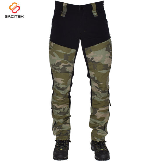 Wholesale Camouflage Printed Men Cargo Track Pants Hiking Military Trousers