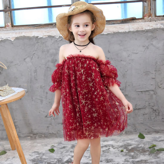 2 to 8 Years Baby Girl Dresses Party Baby Girl Sleeveless Dress Floral