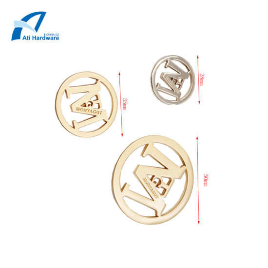 Wholesale Different Sizes Label Metal Brand Logo Label Hardware for Lady Bags