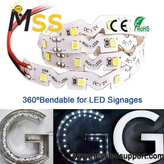 60LEDs/M 12V/24V SMD 2835 S Shape Heat Resistant LED Strip Light