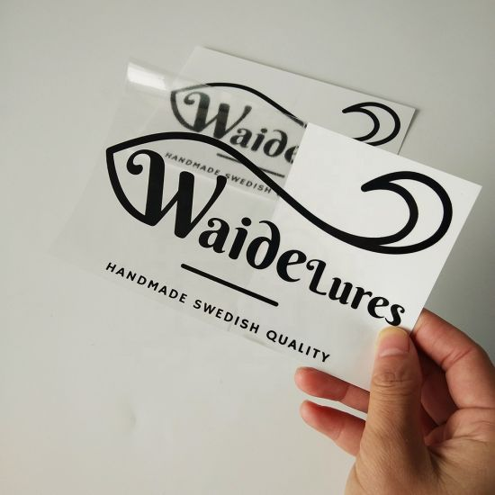 Custom Car Window Clear Decal Gold Foil Glossy Transparent Vinyl Label  Sticker