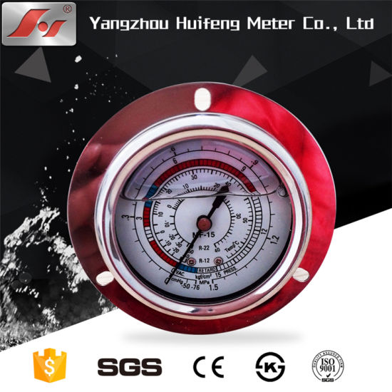Stainless Steel MPa Kpa Psi Oil Pressure Temperature Gauge with Glycerine pictures & photos