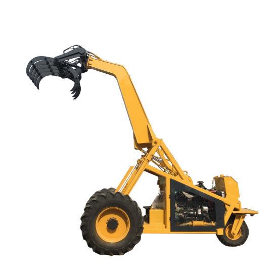 3 Wheel Sugarcane Wood Grab Hydraulic Loader