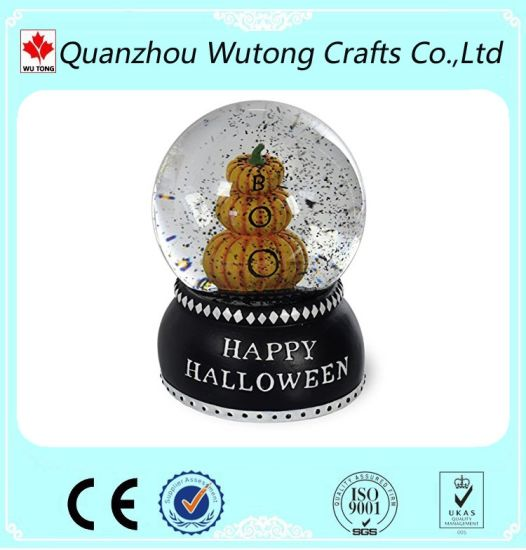 Novelty Happy Halloween Resin Pumpkin Snow Globe Gifts pictures & photos