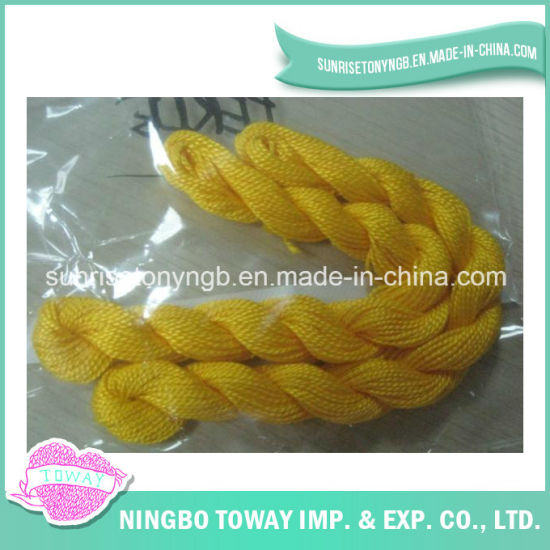 Crochet Thread Yellow Textile Sewing Cotton Embroidery Thread for Bracelet