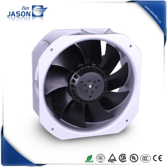 Silver Color 225X225X80mm 8.86inch Square Low Vibration Axial Spindel Fan