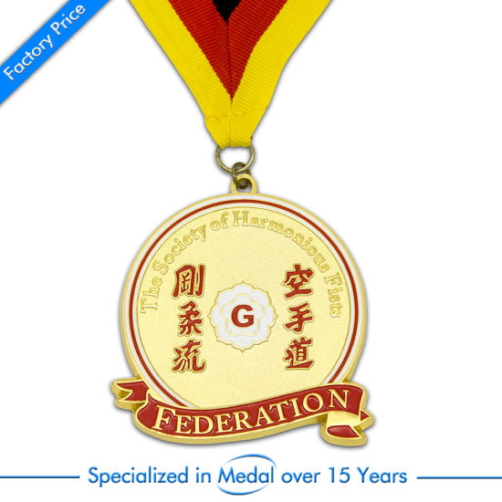 Zinc Alloy Custom 3D Federation Enamel Sport Award Medal pictures & photos