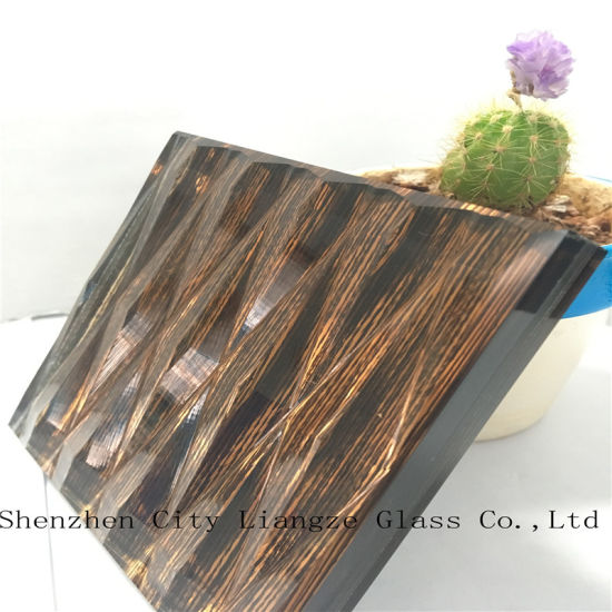 10mm+Fabric+5mm Laminated Glass/Craft Glass/Tempered Glass/Safety Glass for Decoration