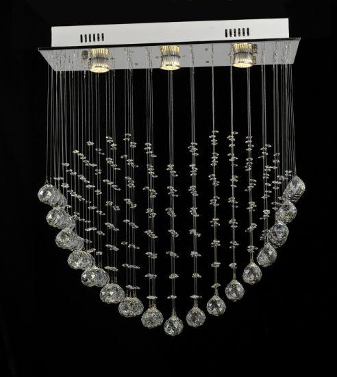 Modern Square Single Heart Shape Crystal Chandelier Led Pendant Light 8006 3
