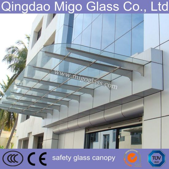 8.38mm Clear/Colored Tempered Laminated Glass Canopy pictures & photos