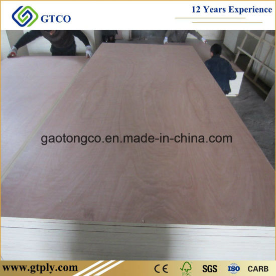 4mm Furniture Grade Red Bintangor Veneer Laminated Plywood