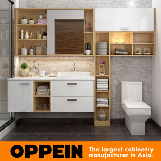 Oppein Wall Mounted Laminate Bathroom Vanity With Mirror Bc17 Hpl01