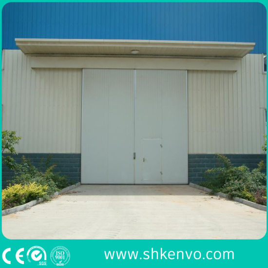 Industrial Manual or Automatic Thermal Insulated Sliding Gate with Small Wicket Door