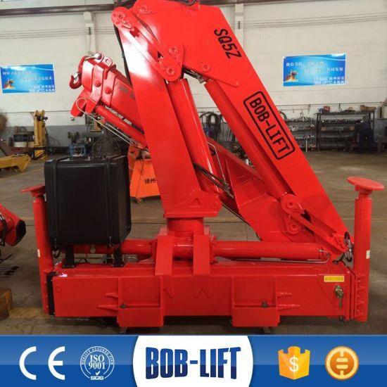China Hydraulic Knuckle Boom Crane Truck Mounted Crane