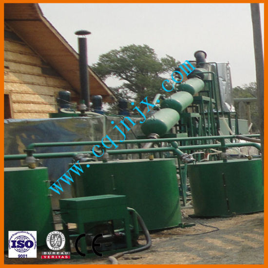 China Mini Crude Pyrolysis Oil To Diesel Distillation Refinery Plant