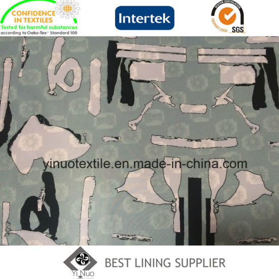 2016 New Fashion Polyester Print Lining for Cloth