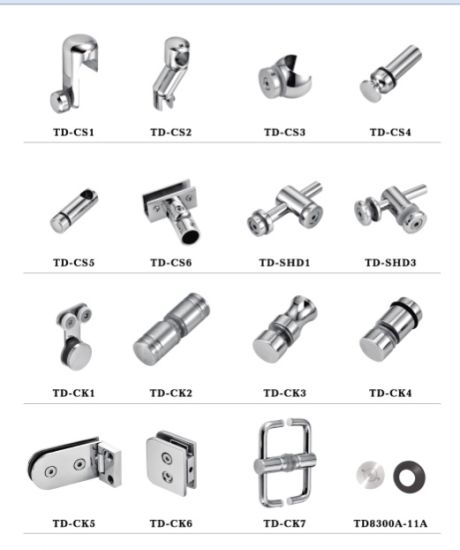 China Stainless Steel Glass Clip Td-Ck2 - China Connector, Hardware