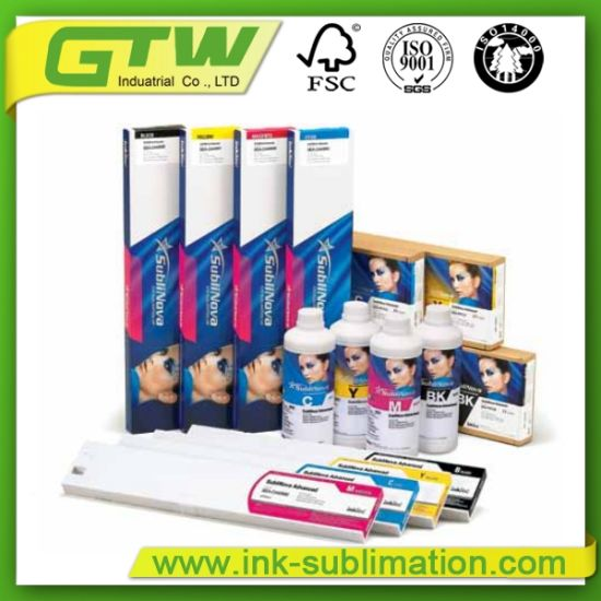 Water-Based Sublinova Advanced Sublimation Transfer Ink for High Speed Print