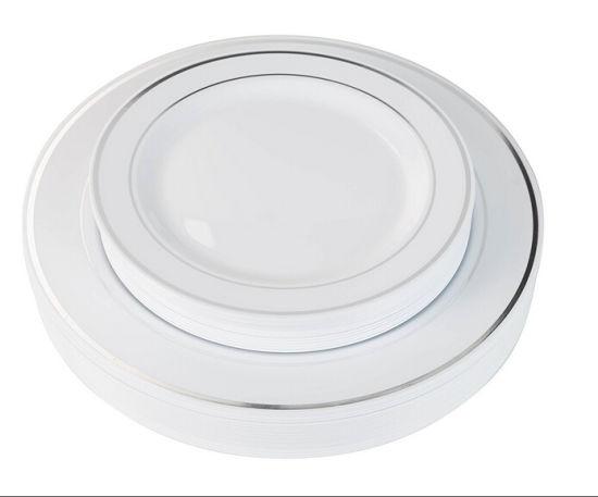 Silver Line Plastic Plates Premium Heavyweight Wedding Like China