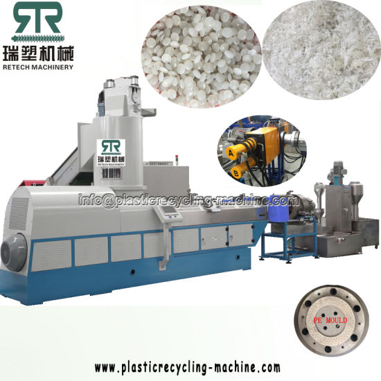 600kg/H LDPE HDPE Film Compactor Pelletizing Line with Degassing Station