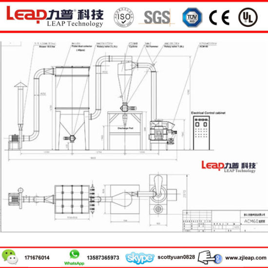 China Mushroom Superfine Powder Hammer Mill With Ce Certificate