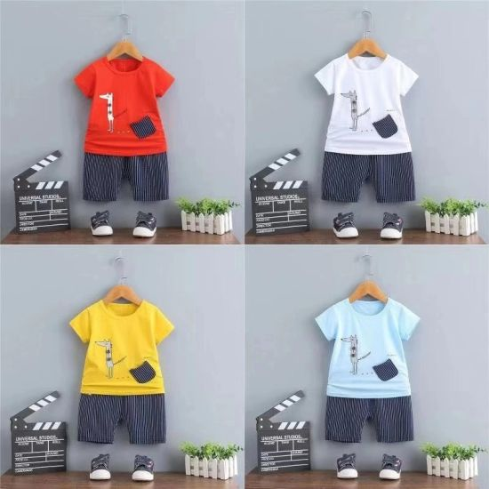 e6b0c0e5f High Quality Children Leisure Printing T Shirt and Pants Boutique Baby Boy  Clothes