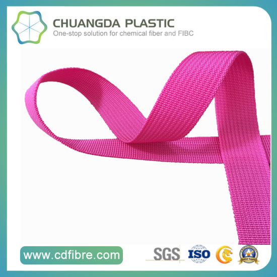 600d Pink Polypropylene Webbing for Make Bag pictures & photos
