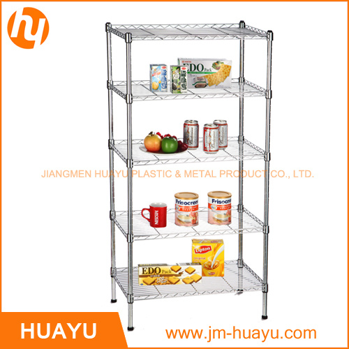 5 Tiers Commercial Chrome Metal Wire Shelving Rack Wire Shelf pictures & photos