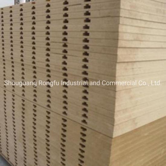 1220*2440mm Melamine Faced Slot MDF Slatwall Slot Board with Aluminum Grooves for Furniture