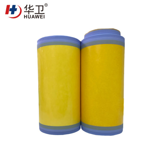 Medical Glue Coating PU Film with Iodine Raw Material Jumbo Roll for Surgical Incise Dressing