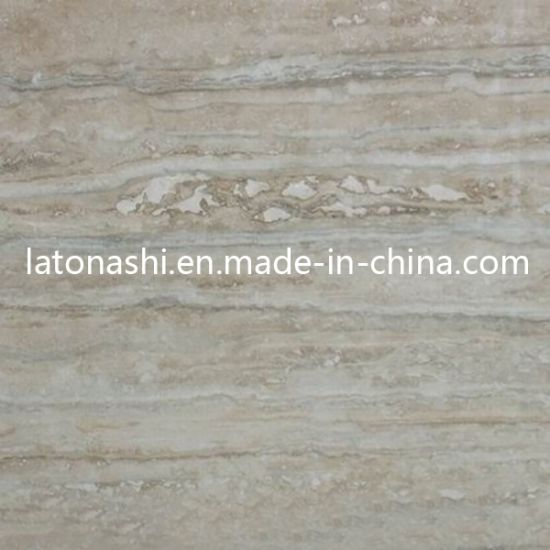 Natural Silver Grey Stone Travertine Tile For Flooring Backsplash Paver