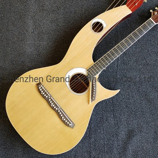 Custom Spruce Top Maple Back & Sides Rosewood Fingerboard Grand Harp Acoustic Guitar