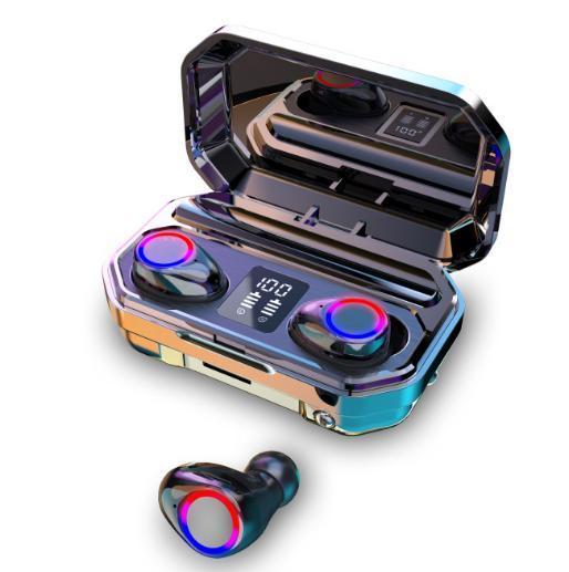 2021 New M12 Bt5.0 Headset Wireless Headphones True Wireless Tws Blue Tooth Earbuds Waterproof