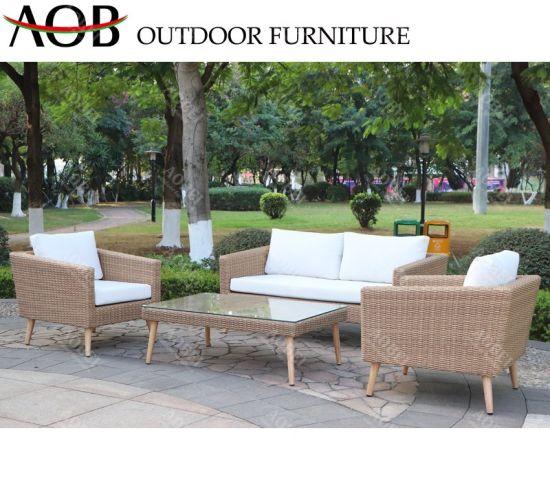 Aobei Modern Outdoor Garden Patio Hotel Resort Villa Home Leisure Rattan Wicker Sofa Furniture Set