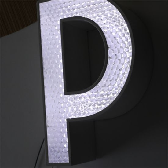 Diamond Look Acrylic Channel Letter with Trim Cap for Store Sign