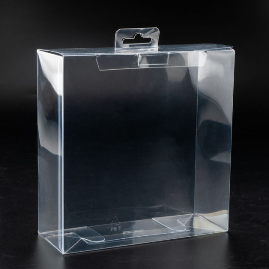 Custom Logo Foldable Clear PVC Transparent Plastic Box