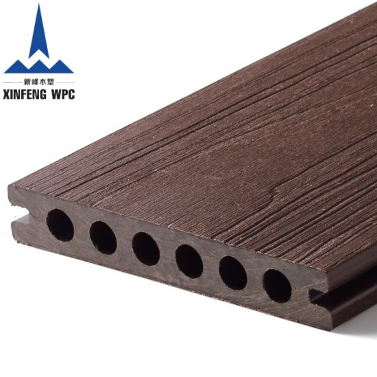 Low Maintenance Co-Extrusion WPC Decking with Slots