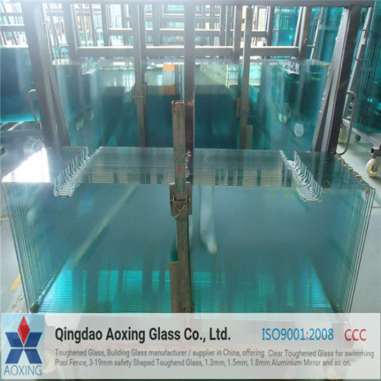 Flat Toughened Glass for Bathroom Glass with Good Quantity pictures & photos