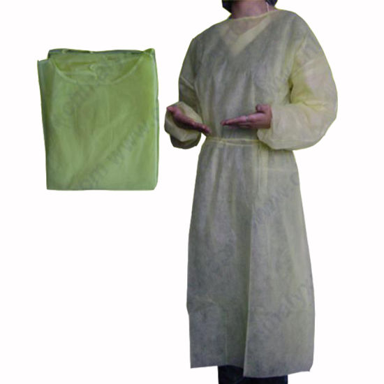 Disposable Popular Design Surgical Gown Isolation Gown Nonwoven