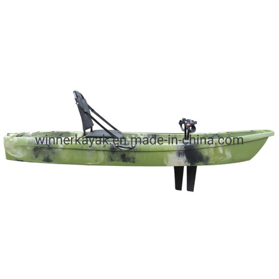 Single Plastic No Inflatable Fishing Boat Kayak with Pedal