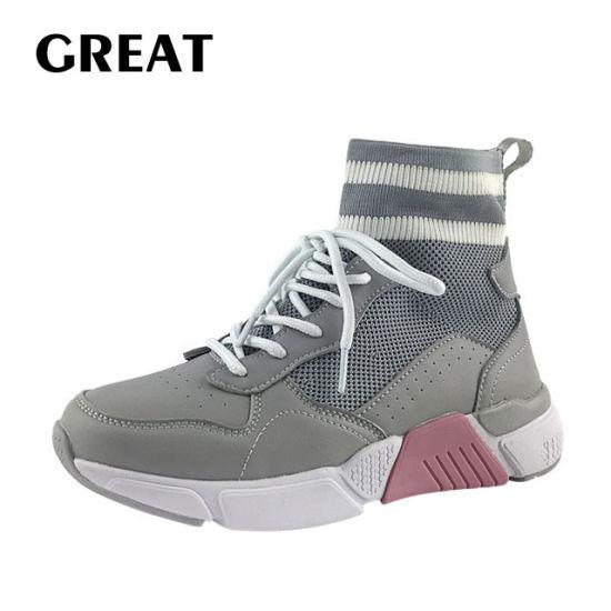 Greatshoe New Slip on Women Sneaker Flyknit Sport Sneakers Shoes Lady Running Footwear Shoe