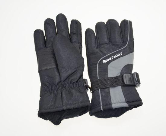 BSCI Black Polyester Waterproof Adult Winter Sport Motorcycle Skiing Gloves
