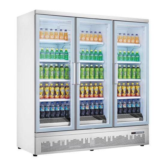 Best Selling Commercial Upright Display Freezer Upright Glass Door Freezer