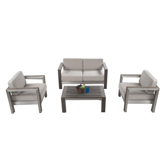 Modern Hotel Water Resistant Beach Lounge Cortical Sofa for Aluminum Frame Outdoor Garden Furniture