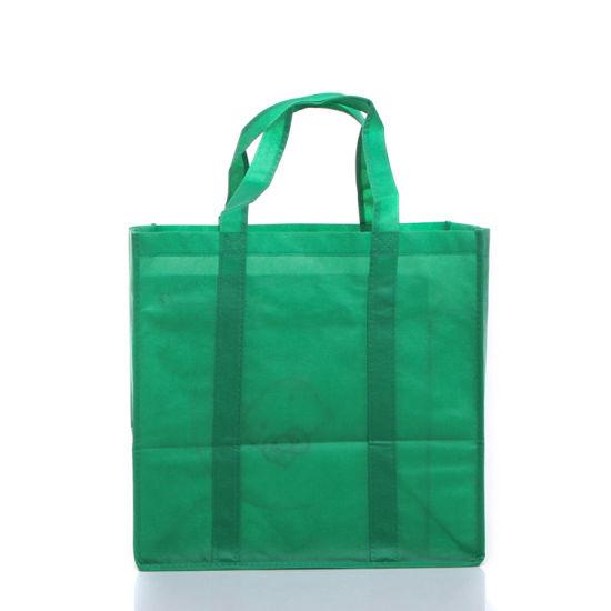 High Quality Wholesale Custom Non Woven Tote Bag Handle to Bottom