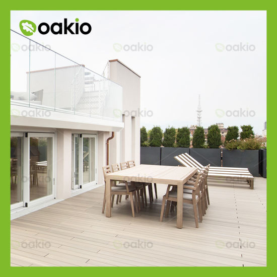 Waterproof Outdoor Plastic Composite Decking with ISO