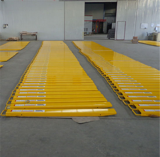 "60/"" x 6/"" Forklift Pallet Fork Extensions Pair Retaining Fit 6/"" Width Lifting"