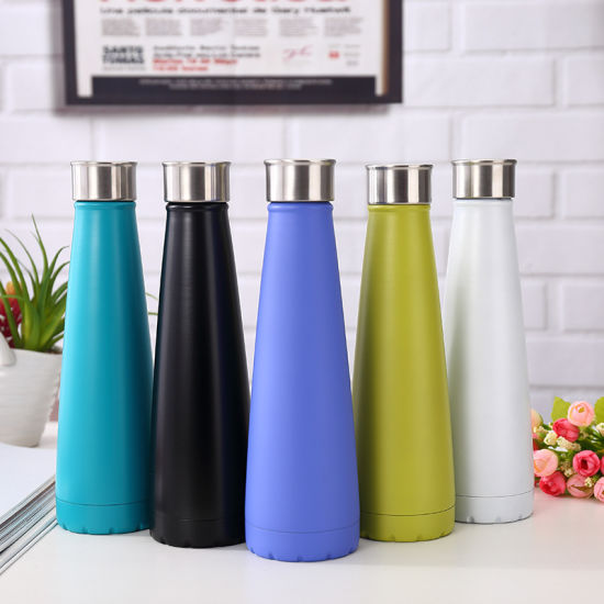 500ml Stainless Steel Triangle Custom Cola Sport Water Swell Bottle