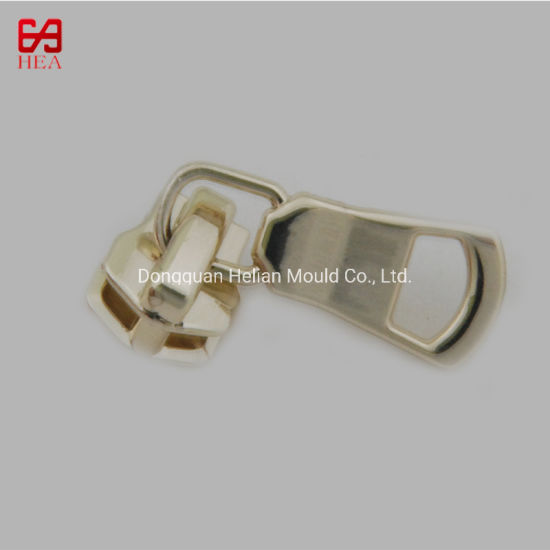 High Quality Polishing Custom Light Gold Metal Zipper Slider pictures & photos